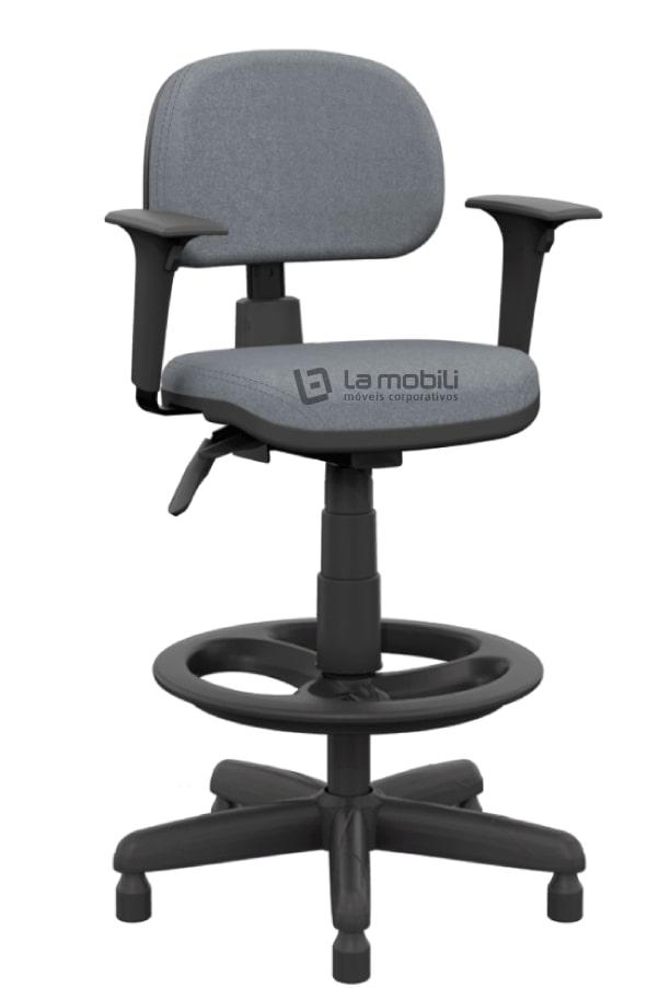 Cadeira Operativa Plus Caixa Secretária Ergonômica com Braços Reguláveis - NR17