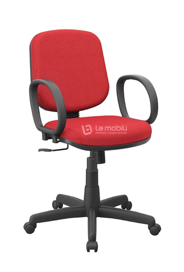 Cadeira Operativa Plus Diretor Giratória com Mecanismo Relax e Apoio de Braços Fixos