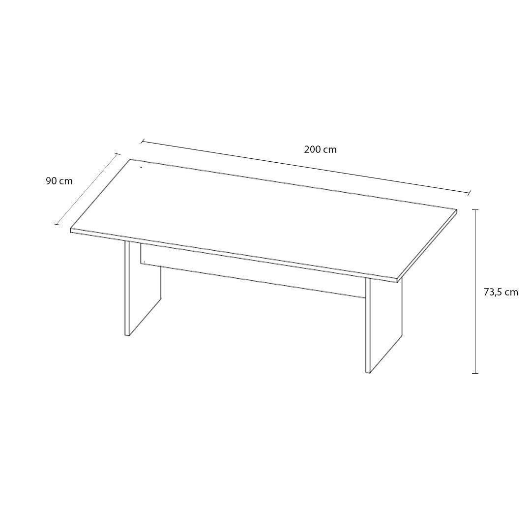 Mesa de Reunião Retangular com ou sem Caixa de Tomadas - Yaris