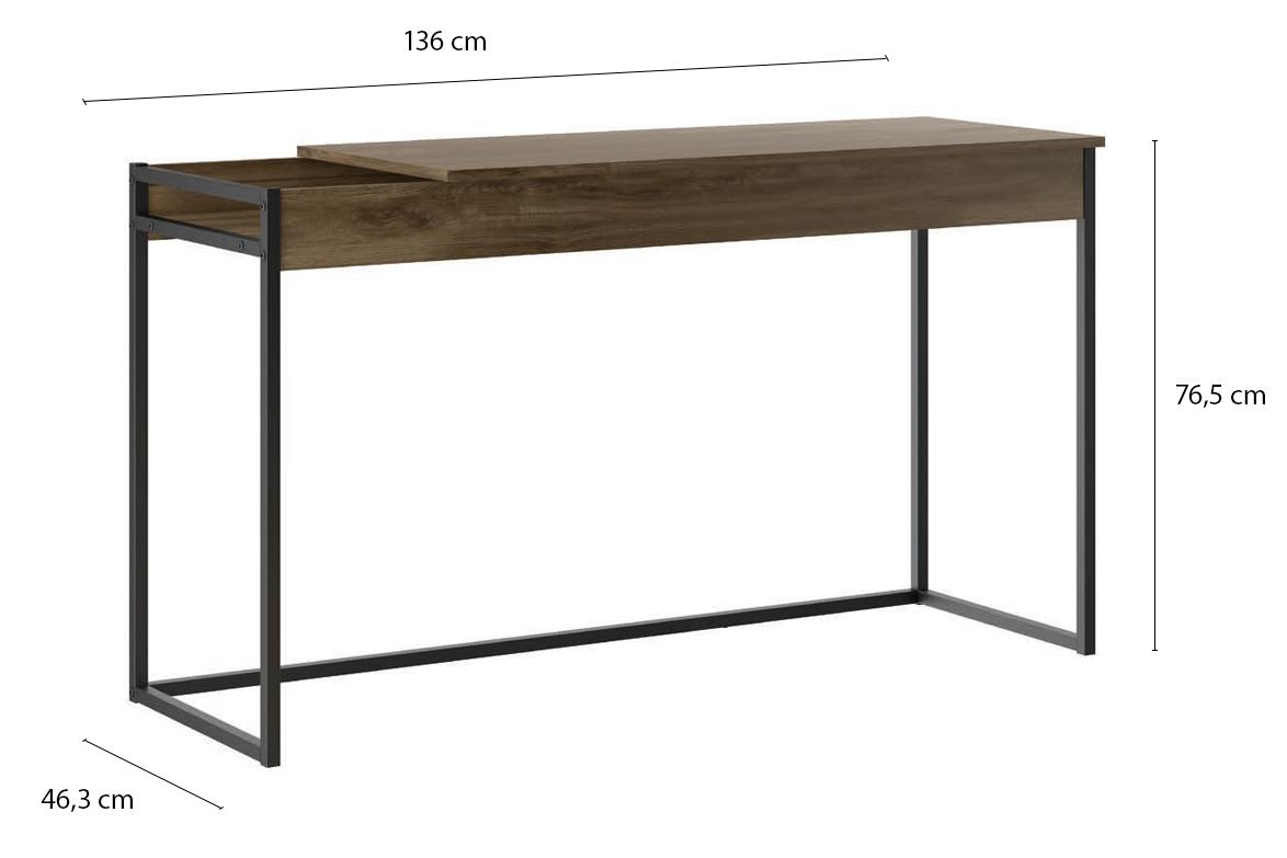 Mesa Escrivaninha com Estrutura em Aço e Tampo Basculante - Print