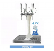Chopeira Torre Naja Italiana 3 Vias Completa 60 Metros Serpentina Congelada Turbo 60