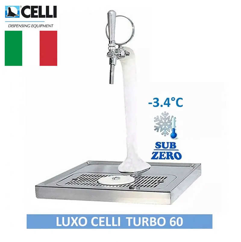 Chopeira Torre Naja Italiana 1 Via Turbo 60 Completa Congelada Luxo Celli  - MAXBEER CHOPEIRAS