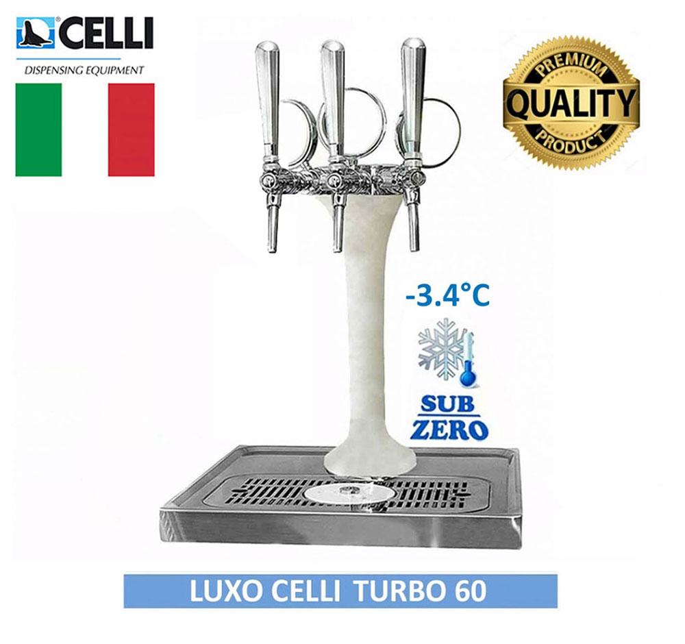 CHOPEIRA TORRE NAJA ITALIANA LUXO CELLI 3 VIAS TURBO 60 COMPLETA CONGELADA