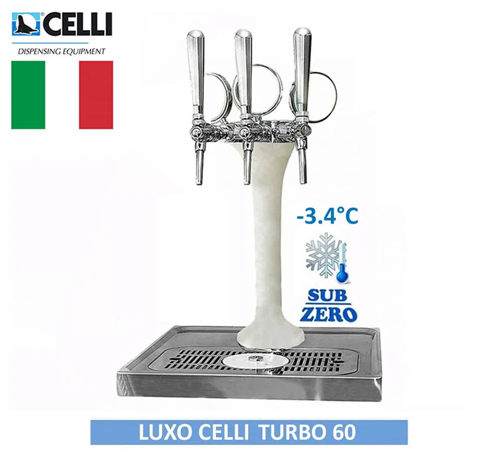 Chopeira Torre Naja Italiana 3 Vias Turbo 60 Completa Congelada Luxo Celli
