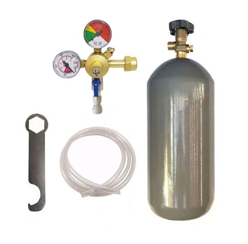 KIT DE EXTRAÇÃO CO2 6KG COM REGULADOR DE 1 VIA PARA CHOPP COM ENGATE RÁPIDO