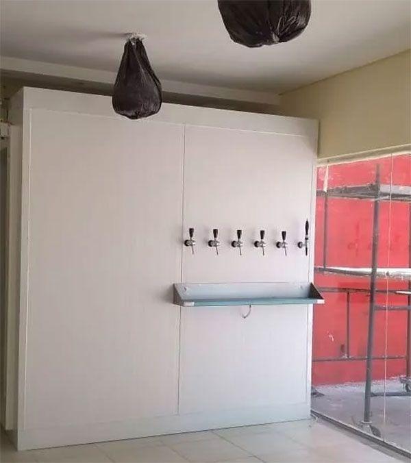 Kit Para Câmara Fria Geladeira 4 Vias Para Chopp Completa Com Engate Rápido  - MAXBEER CHOPEIRAS