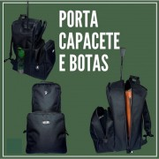 SACOLA MOCHILA DE BOTA E CAPACETE VTR