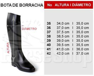BOTA DE BORRACHA
