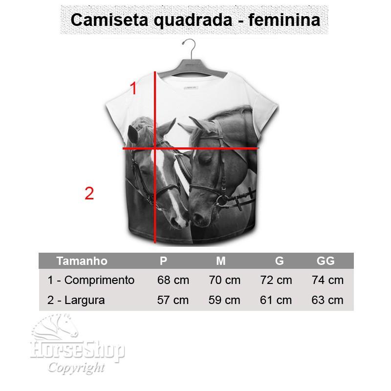 CAMISETA QUADRADA CAVALO CAPITANO
