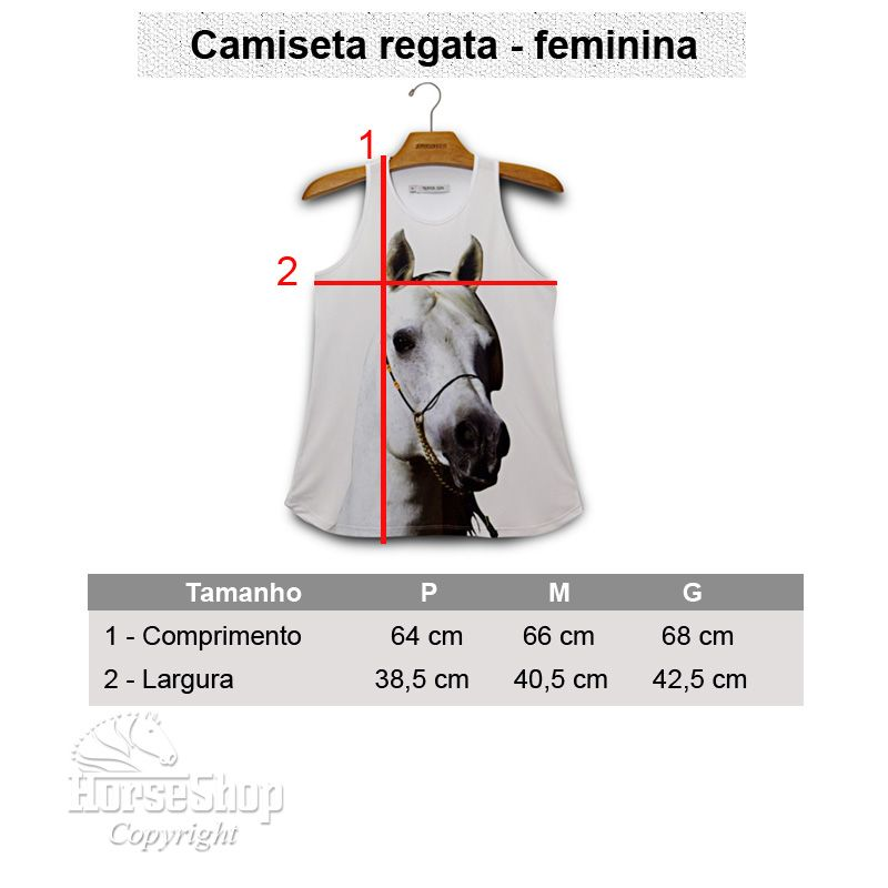 CAMISETA REGATA CAVALO BRANCO