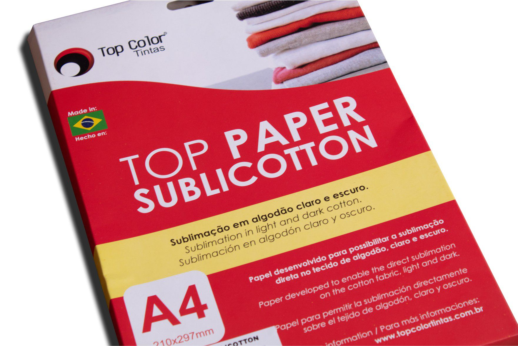 TOP PAPER SUBLICOTTON A4 - caixa com 40 folhas