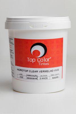 HIDROTOP CLEAR - VERMELHO VIVO - 500gr
