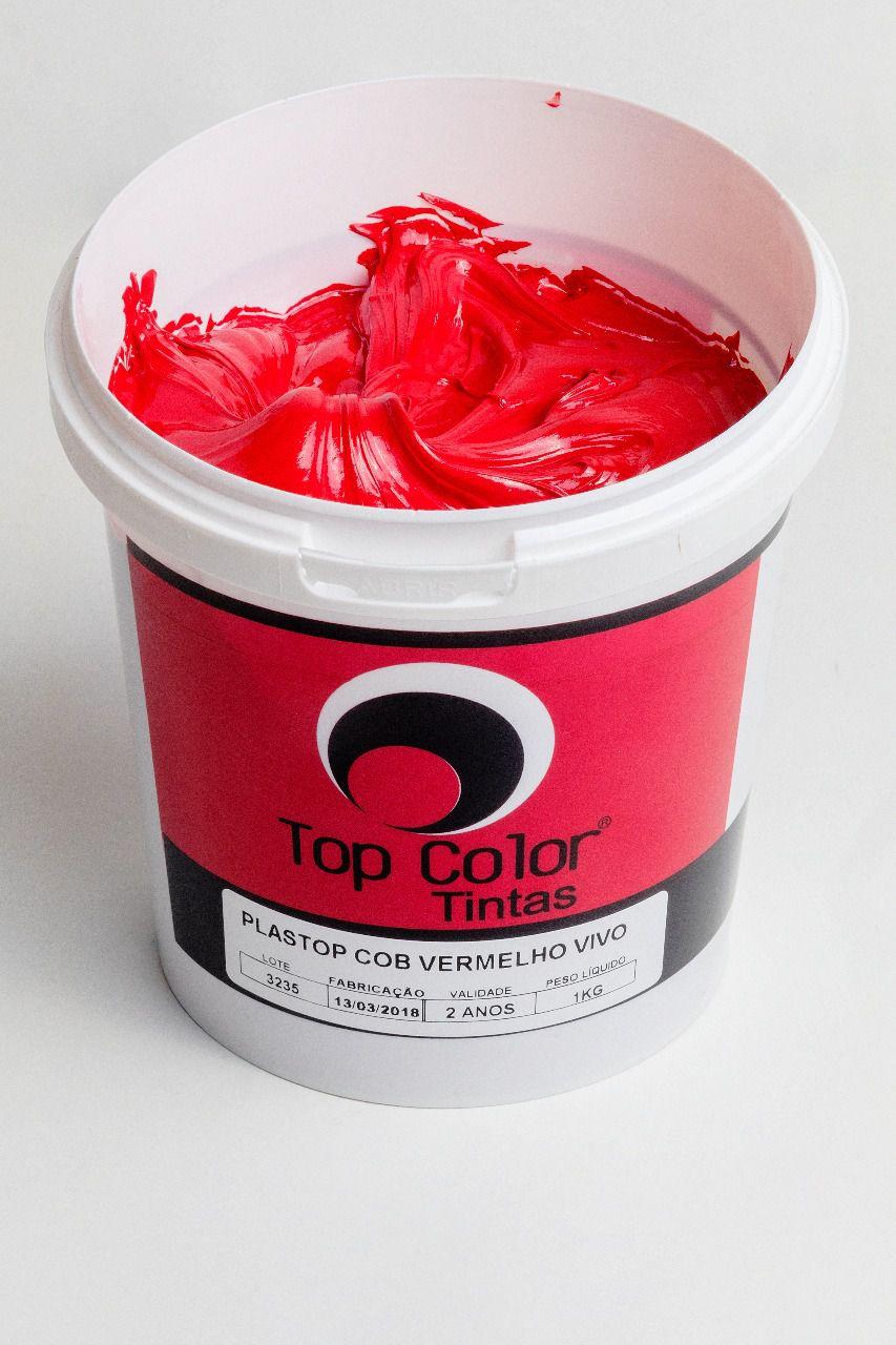 Pigmento Plastisol Vermelho Vivo - 1 kg