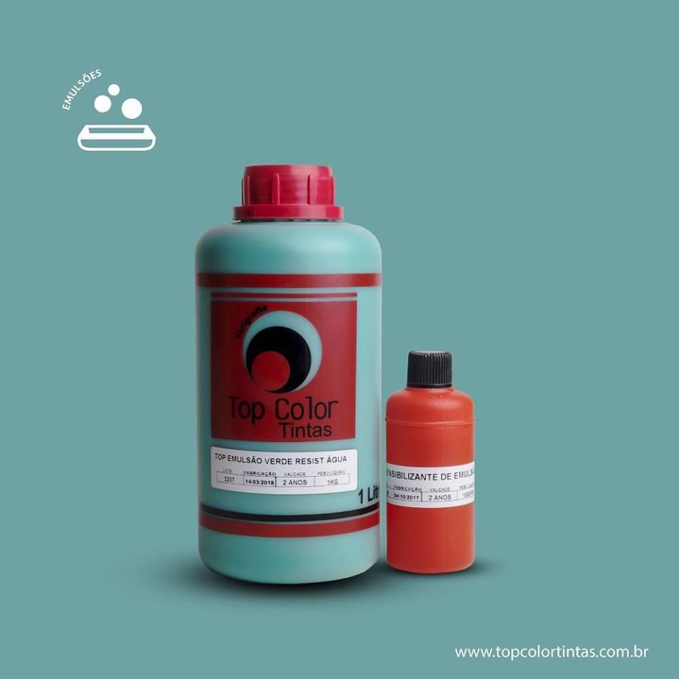 Top Emulsão Verde Resist água - 1 kg + 100ml de sensibilizante
