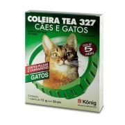 Coleira Antiparasitária Tea 327 para Gatos - 33cm