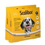 Combo Scalibor 65cm - Duas Coleiras MSD Antiparasitária: Mosquito Leishmaniose, Pulgas e Carrapatos