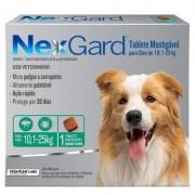 Antipulgas e Carrapatos Nexgard Cães 10,1 a 25kg - Caixa c/ 3 tabletes mastigáveis