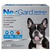 Antipulgas e Carrapatos p/ Cães Nexgard 4,1 a 10kg - Caixa c/ 3 tabletes mastigáveis
