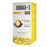 Ograx-3 1000 Suplemento Vitamínico Avert para Cães e Gatos - 30 Cápsulas