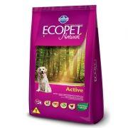 Ração Ecopet Natural Active para Cachorros Adultos com Atividade Física Elevada 20kg