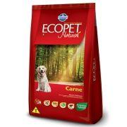 Ração Ecopet Natural Carne para Cachorros Adultos de Raças Médias e Grandes 15kg