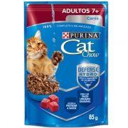 Sachê Cat Chow Carne ao Molho - Gatos Adultos 7+ 85g