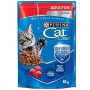 Sachê Cat Chow Carne ao Molho - Gatos Adultos - 85g