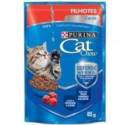 Sachê Cat Chow Carne ao Molho - Filhotes - 85g