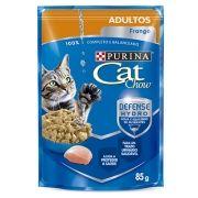 Sachê Cat Chow Frango ao Molho - Gatos Adultos - 85g
