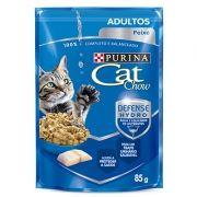 Sachê Cat Chow Peixe ao Molho - Gatos Adultos -  85g