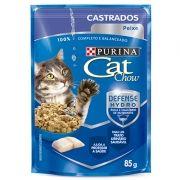 Sachê Cat Chow Peixe ao Molho - Gatos Castrados - 85g