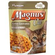Sachê Magnus Cat Premium Gatos Adultos Castrados Sabor Frango ao Molho 85g