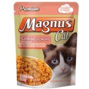Sachê Magnus Cat Premium Gatos Adultos Sabor Salmão Molho 85g