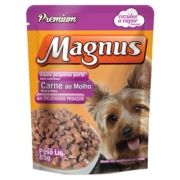 Sachê Magnus Premium Cães Adultos Pequeno Porte Sabor Carne ao Molho 85g