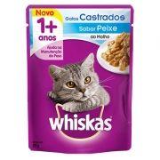 Sachê Whiskas Peixe ao Molho  - Gatos Castrados 85g