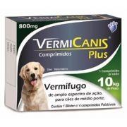 Vermífugo Vermicanis Plus 800mg - Unidade