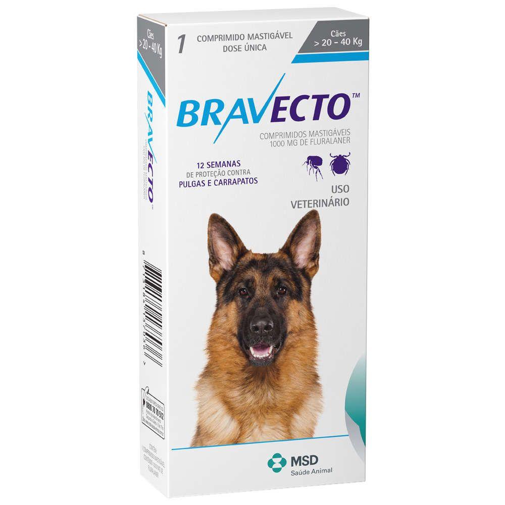 Antipulgas e Carrapatos Bravecto - Cães de 20 a 40kg