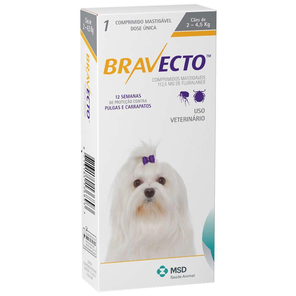 Antipulgas e Carrapatos Bravecto - Cães de 2 a 4,5kg