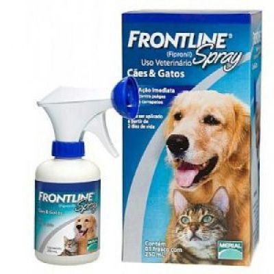 Antipulgas e Carrapatos Frontline Spray p/ Cães e Gatos  250ml