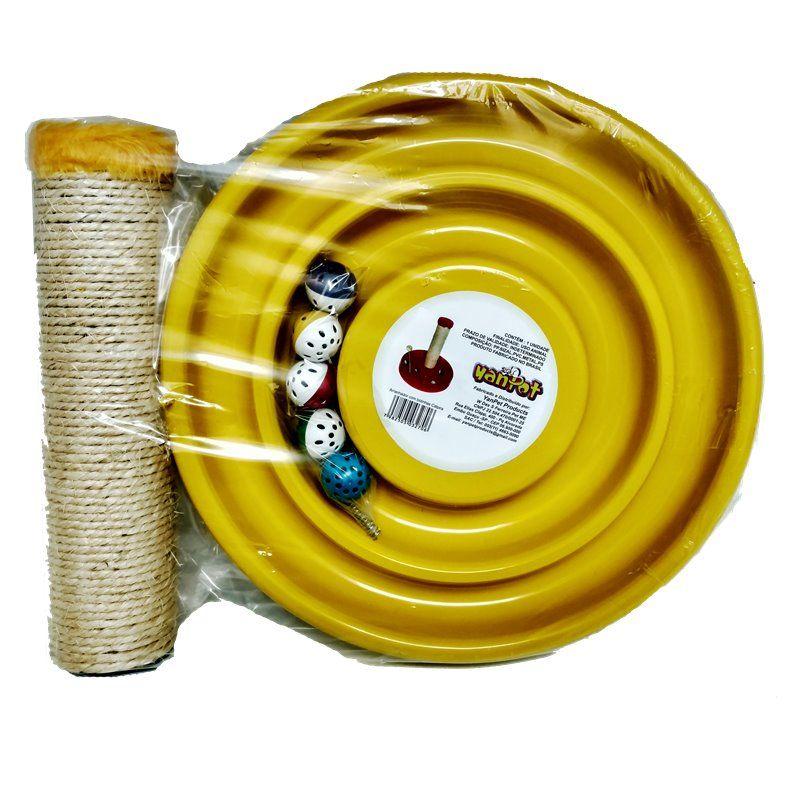 Arranhador Yanpet Catpira c/ Bolinhas - Amarelo
