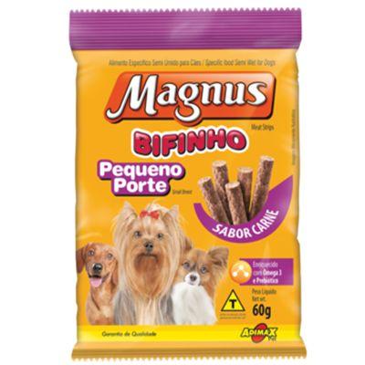 Bifinho Magnus Cães Pequeno Porte Sabor Carne 60g