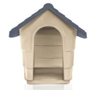 Casinha de Cachorro - Modelo House Plast Pet - Tam. 2 - Cor: Cinza e Marrom