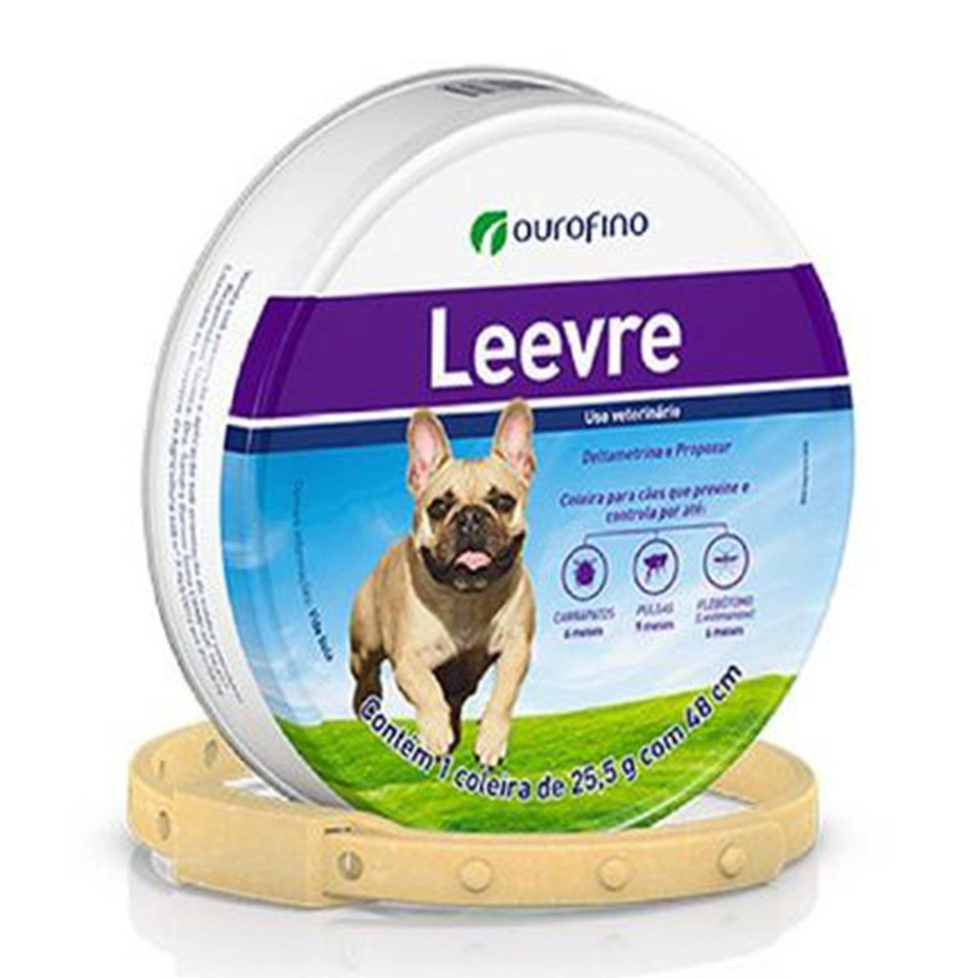 Coleira Antiparasitária Leevre para Cães - 48cm