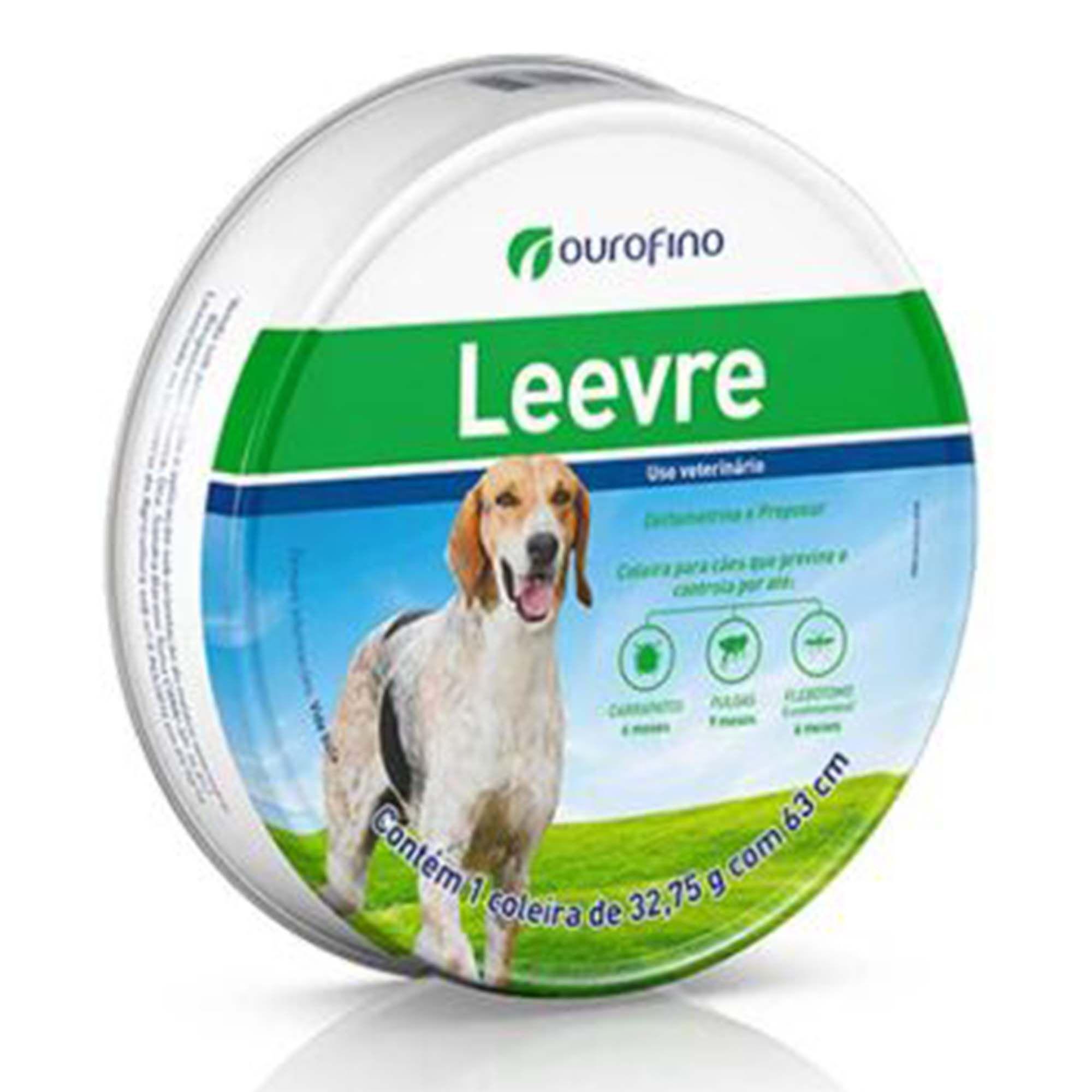 Coleira Antiparasitária Leevre para Cães - 63cm
