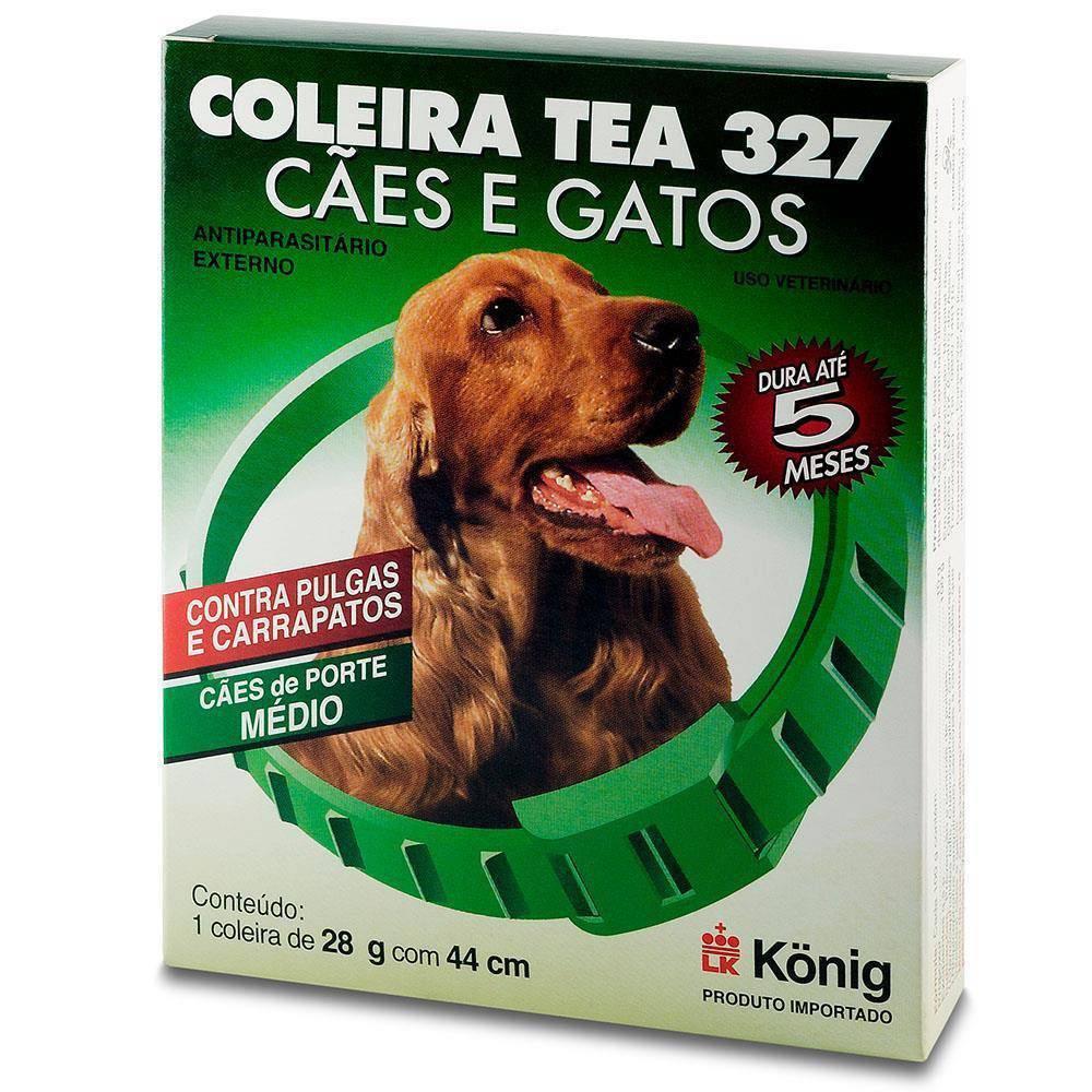 Coleira Antiparasitária Tea 327 - Cães de Médio Porte - 44cm