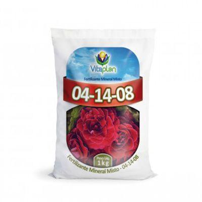 Adubo NPK 04 14 08 - Fertilizante Vitaplan - Pacote 1kg