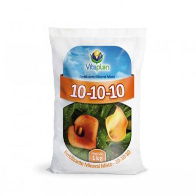 Adubo NPK 10 10 10 - Fertilizante Vitaplan - Pacote 1kg