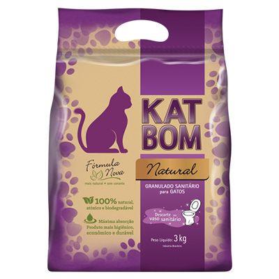 KATBOM Natural - Granulado Higiênico para Gatos - 3kg