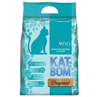 KATBOM Original - Granulado Higiênico Natural para Gatos - 3kg