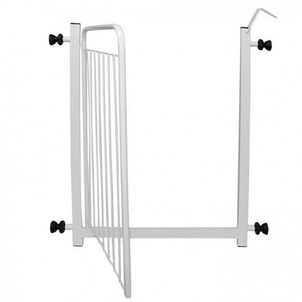 Portão de Segurança + Extensor de 10cm - Kit Pet Dog Branco